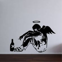 Banksy Fallen Angel Wall Art Sticker Decal Mural Bedroom Large Vinly Graffiti