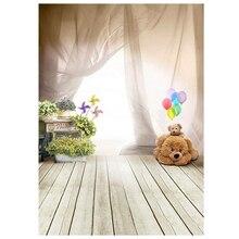 ETC 1m x 1.5m Lovely Bear Floor Balloon Studio Backdrops Children Photography Background