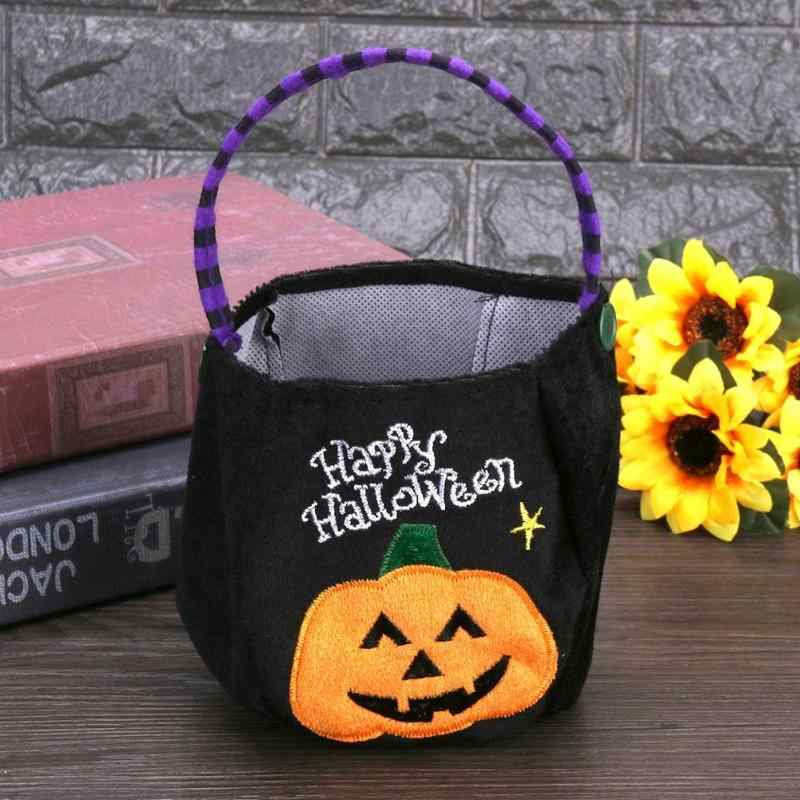 Halloween Trick or Treat Candy Bag Kids Sugar Holder Pouch Sacks Gift Bags Food Container Halloween Decoration Storage Baskets