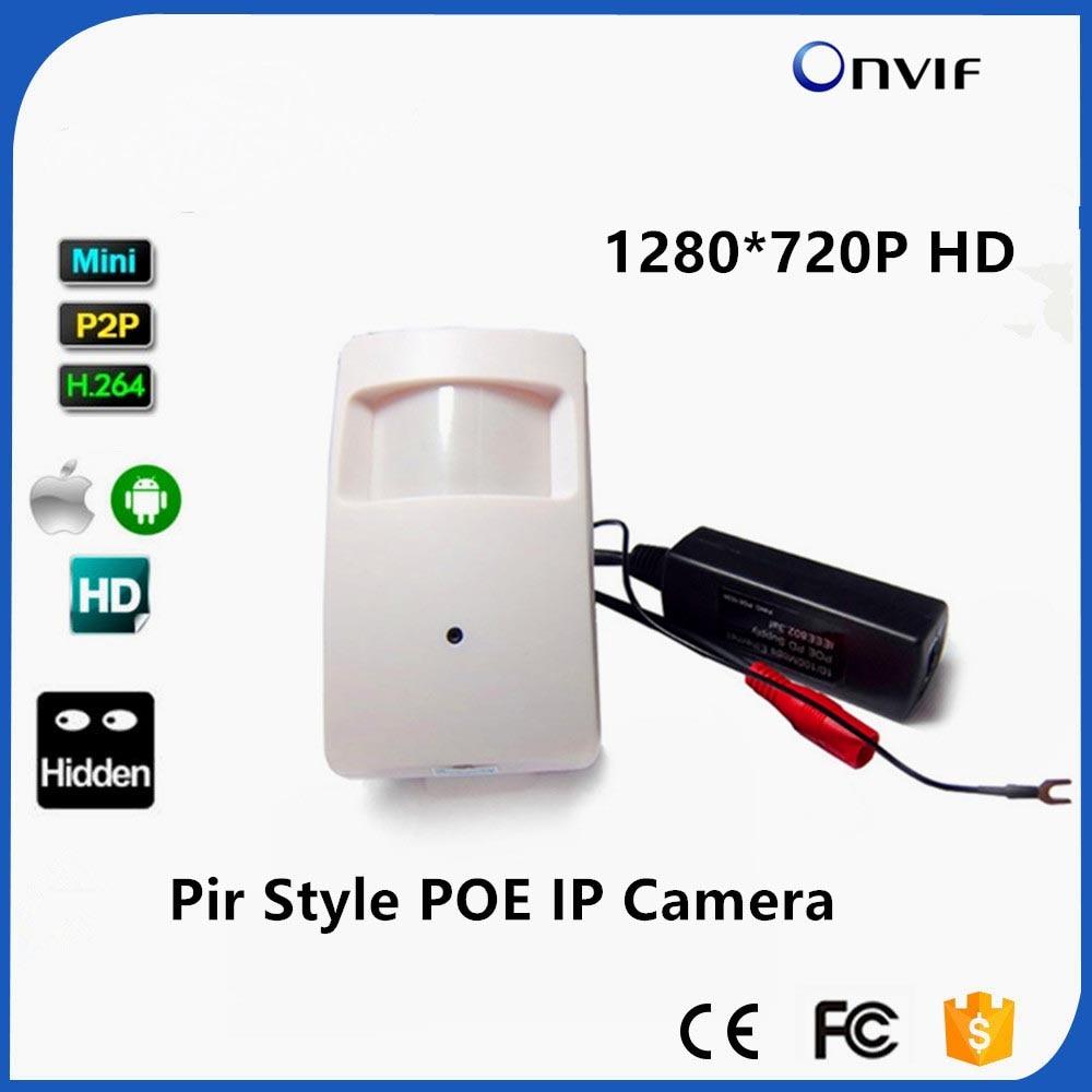 POE 720P 1.0MP ONVIF P2P Plug And Play Micro Pir Mini POE IP Camera PIR Style Motion Detector POE Camera For CCTV System 720p pir style motion detector covert mini ip camera wifi ip camera poe aduio onvif p2p mini pir camera ip mini poe ip camera