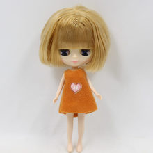 Factory Blyth Doll Mini Brown Bob hair 10cm height