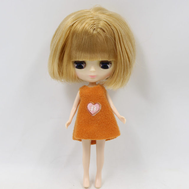 ICY Neo Blythe Doll Brown Bob Hair Regular Body 10cm