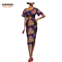 7c871b095 2017sexy Style African Dress For Women African Clothing Casual Print Cotton  Wax Short Sleeve Knee Length