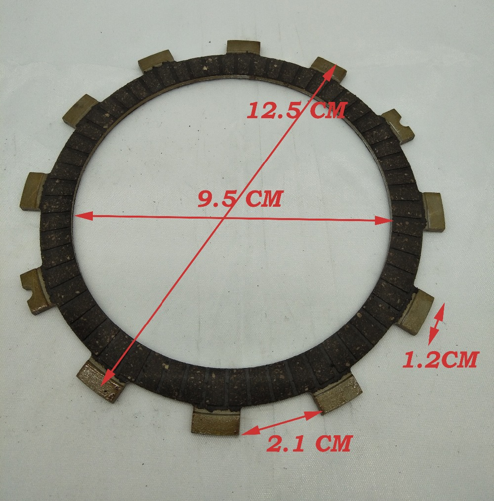 Motorcycle Clutch Friction Plates Set Wood Fiber Clutch Friction Plate For Suzuki GN125 GS125 125cc GN GS 125 Spare Parts 5Pcs