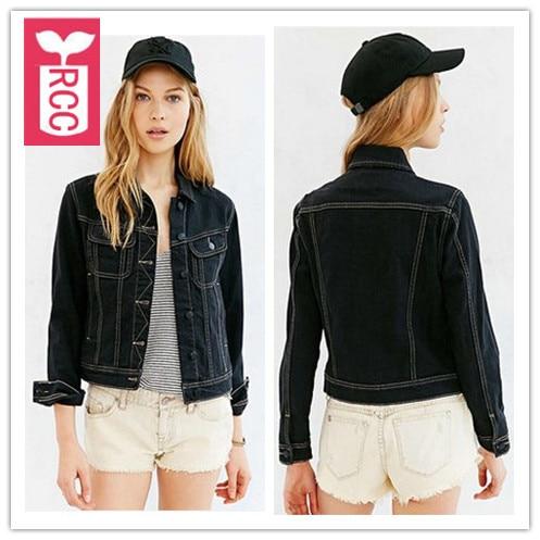 RCC High quality Cotton 2017 Ladys autumn hooded Jean jacket ...