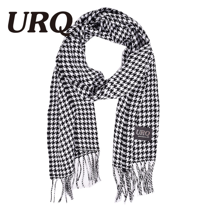 URQ autumn winter female man cape design long plaid scarves