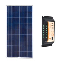 Solar Kit Painel Fotovoltaico 12v 150w Charge Controller PWM Regulator 12v/24v 20A Battery Charger Motorhomes Car