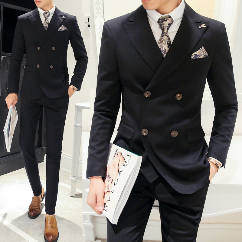 Aliexpress.com : Buy Double Breasted Men Suits 2017 New ...