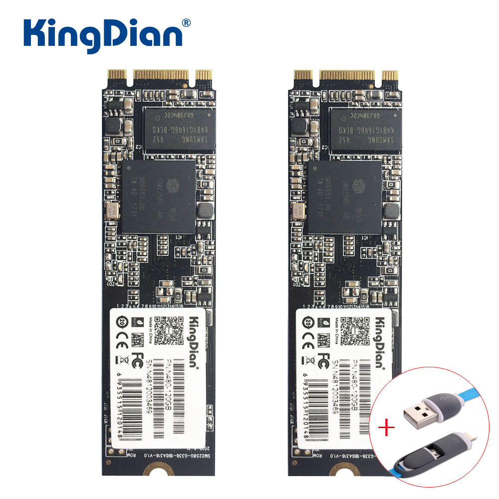 KingDian SSD 120GB N480 Mini PCI-E M.2 NGFF Internal Hard Drive Disk 120G SSD Factory Directly For Computer Upgrade Disc купить дешево онлайн