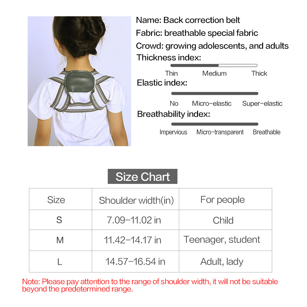 SOULAER Posture Corrector Belt Made of Breathable and Fully Elastic Fabric for Adults and Kids to Correct Body Shape Helps in Relieving Body Pain 5