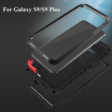 Amore Mei Caso di Marca Per Samsung Galaxy S9 Più In Metallo Antiurto Copertura Del Telefono Per Samsung S9 Più Completo Del Corpo Anti  autunno Armatura di Caso