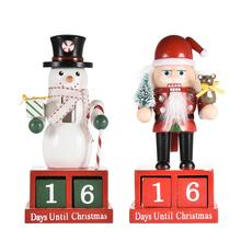 16cm Christmas Advent Calendar Wooden Nutcracker Decoration Traditional Holiday
