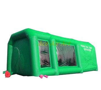 Für Außen Und Innen Von Fabrik Heißer Verkauf Tragbare Aufblasbare Spray Booth/Aufblasbare Spray Farbe Auto Zelt