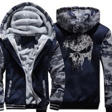 harajuku Hooded fleece thicken Coat men fitness wool liner Winter Warm Hoodies 2019 fashion Thicken Zipper Jacket Sweatshirts pp