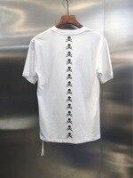 2019 Best Mastermind Japan MMJ Vertical Row Skull Printed Women Men T shirts tees Hiphop Streetwear Men Cotton Summer T shirt