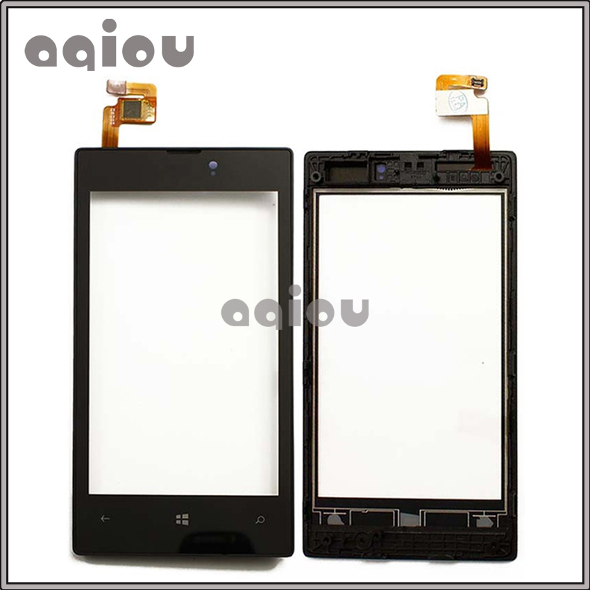4.0 Pour Nokia Lumia 520 N520 Écran Tactile Digitizer Avant Lentille En Verre Capteur Panneau Avec Cadre de Haute Qualité