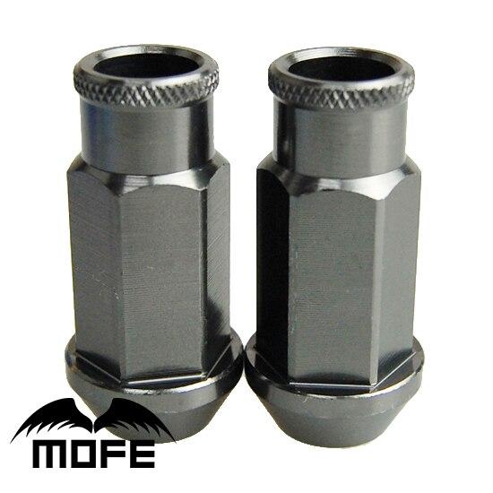 Mofe 20 шт./компл. 50 мм JDM Гонки D1 расширенные колесные гайки Алюминиевого Сплава Колеса Гайки М12*1.25 (P: 1.25, L: 50 ММ) Titanium
