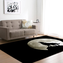 1PC Polyester Wolf Pattern Carpet for Living Room Kitchen Mat Bedroom Floor Door Decoration