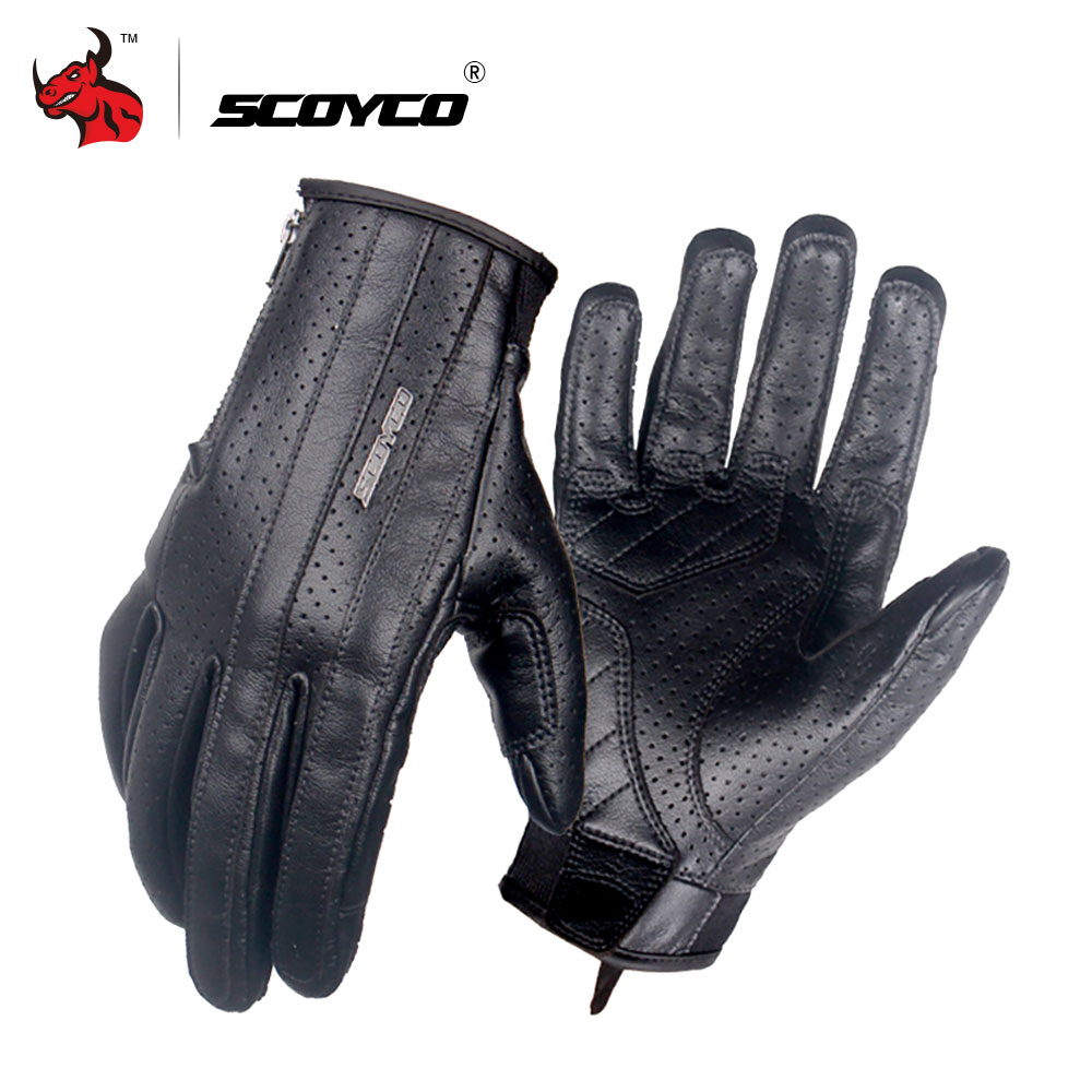SCOYCO Motorcycle Gloves Microfiber Leather Riding Touch Screen Gloves Summer Breathable Motocross Gloves Moto Protective Gear