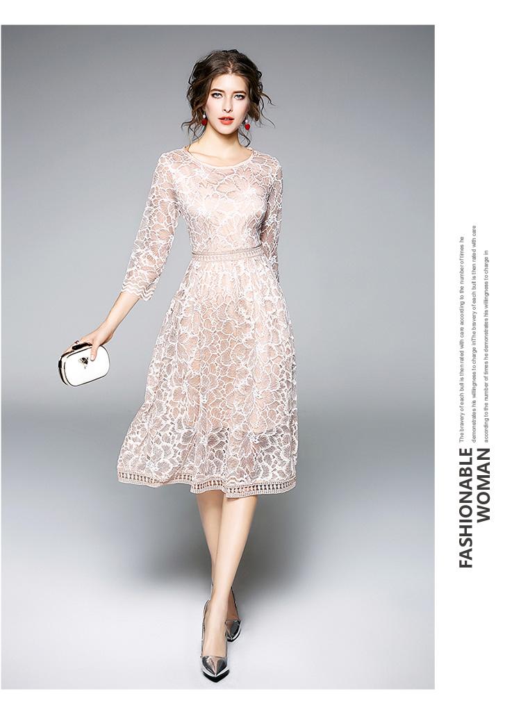 cc83e6cbc221972 Весеннее желтый крючок цветок кружевное платье Женская одежда 2018 халатик  элегантные женские платья Уникальный Femme Dames jurken k9516