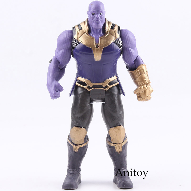 Avengers Infinity War Thanos Figure PVC Avengers Marvel Action Figures Thanos Toys Lighting Collectible Model Toy for Children action figure marvel avengers 3 infinity war figure thanos pvc avengers infinity war thanos figure collectible model toys light