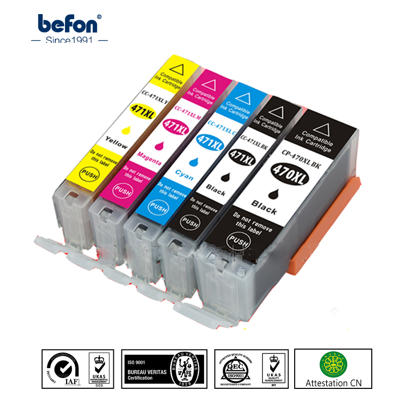 befon Ink Cartridge Replacement for <font><b>Canon</b></font> <font><b>470</b></font> <font><b>471</b></font> PGI-<font><b>470</b></font> CLI-<font><b>471</b></font> PGI470 CLI471For PIXMA MG7740 6840 5740 TS6040 MG9040 Printer image