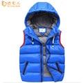 2016 nuevos niños chalecos boy hoooded y cortos niños ropa de invierno gruesa chaqueta chaleco pt1033