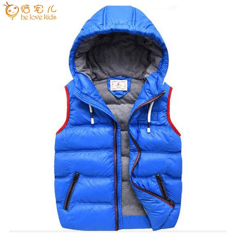 Nieuwe kindervesten voor jongens hoooded kort vest jas casual - Kinderkleding