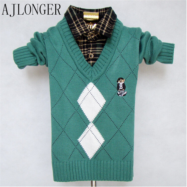 a7383fe3f5b7 Children Sweaters Shirts Boys Knitted Warm Sweater 2018 New Autumn ...