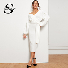 43ffd51af2d7a Buy white wrap dresses and get free shipping on AliExpress.com
