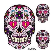 Mini Body Art Waterproof Temporary Tattoos For Women And Men Skeleton Design Flash Tattoo Sticker CC6072