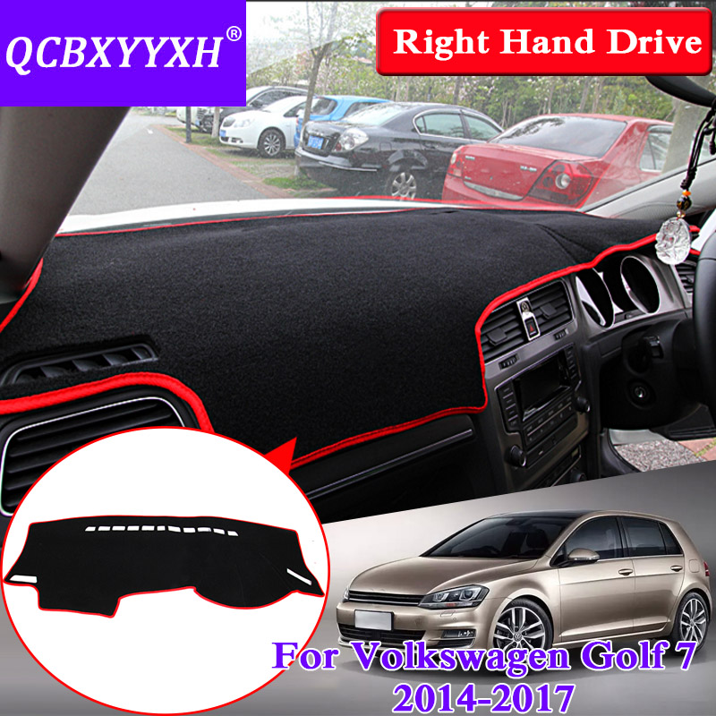 For Volkswagen Golf 7 2014-2017 Right Hand Drive Dashboard Mat Protective Interior Photophobism Pad Shade Cushion Car Styling