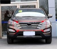 Оригинальный ABS Хром Передняя решетка Вокруг отделкой Гонки Грили Накладка для 2013 hyundai Santa Fe ix45