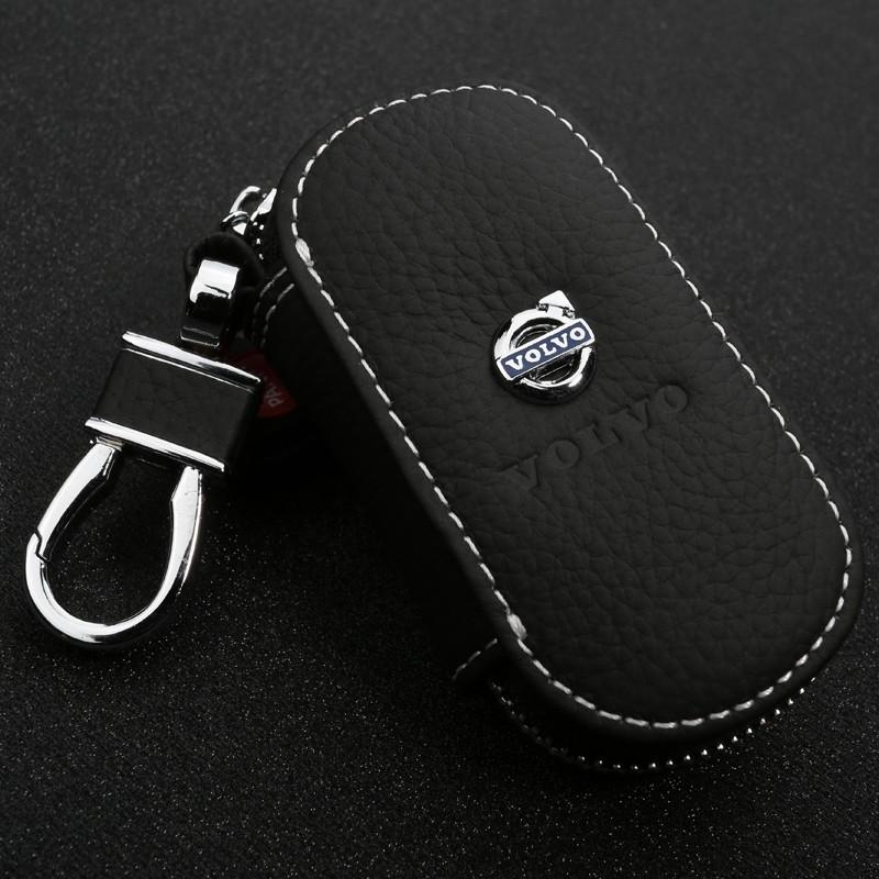 GIFT-for-Volvo-XC60-S80L-XC90-V40-V60-S60L-C30-Leather-Car-Key-Wallet-key-Case