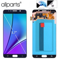 Оригинальный 5,7 ''Super AMOLED ЖК дисплей для SAMSUNG Galaxy Note 5 ЖК дисплей Дисплей Сенсорный экран планшета Note5 N920A N9200 SM N920 N920C