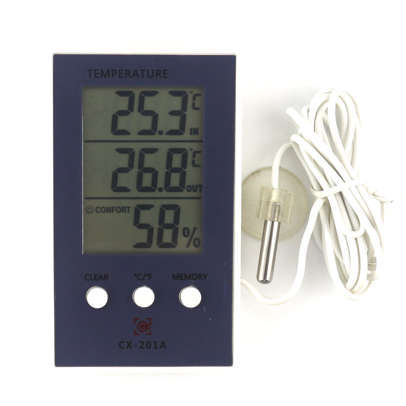 New LCD Digital Weather Station Thermometer Hygrometer In/Out Temperature Meter Indoor Humidity Meter with Temperature Sensor digital indoor air quality carbon dioxide meter temperature rh humidity twa stel display 99 points made in taiwan co2 monitor