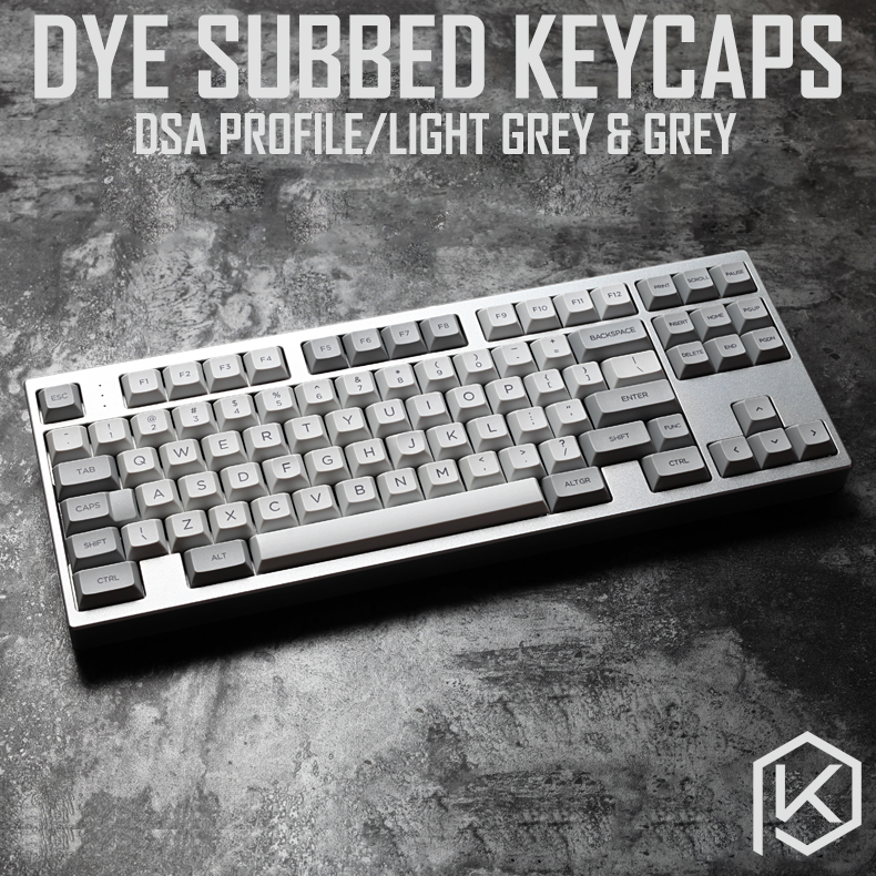 dsa granite grey colorway dsa profile Dye Sub Keycap Set PBT plastic for keyboard gh60 xd60 xd84 cospad tada68 rs96 87 104 660|Keyboards| |  - title=