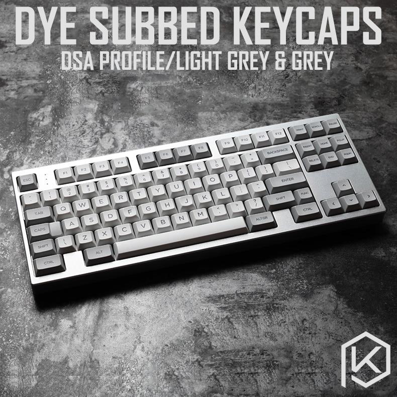 Dsa Granite Grey Colorway Dsa Profile Dye Sub Keycap Set PBT Plastic For Keyboard Gh60 Xd60 Xd84 Cospad Tada68 Rs96 87 104 660