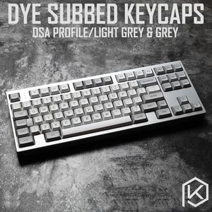Image 1 - dsa granite grey colorway dsa profile Dye Sub Keycap Set PBT plastic for keyboard gh60 xd60 xd84 cospad tada68 rs96 87 104 660