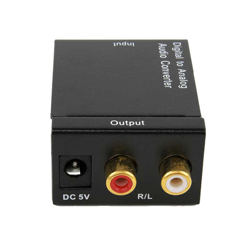 Digital to Analog Audio Converter 3.5mm Optical Coaxial Toslink Adapter Coaxial Digital Toslink Audio to RCA L/R Audio For DVD