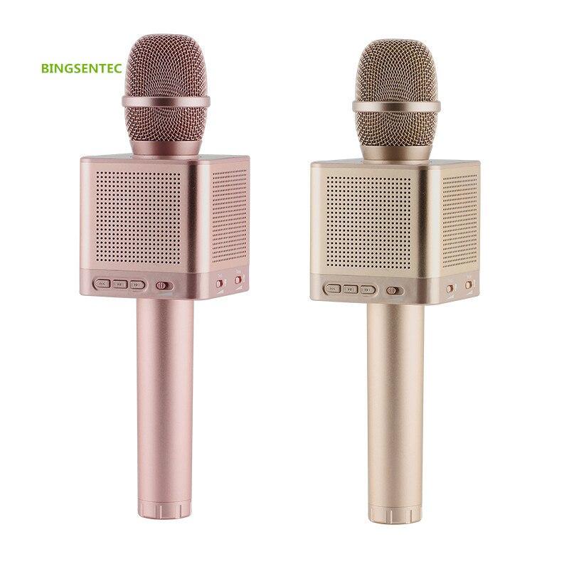 Q10S Bluetooth Karaoké Condenseur Microphone Haut-Parleur Sans Fil Portable Mic Accueil Extérieure Chant Studio Pour Iphone Android