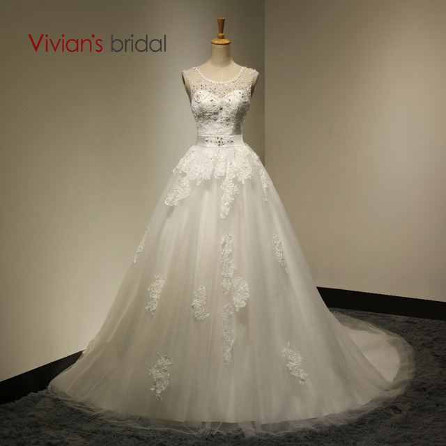 Vivian S Bridal Y Ball Gown Backless Liques Crystal Beadings