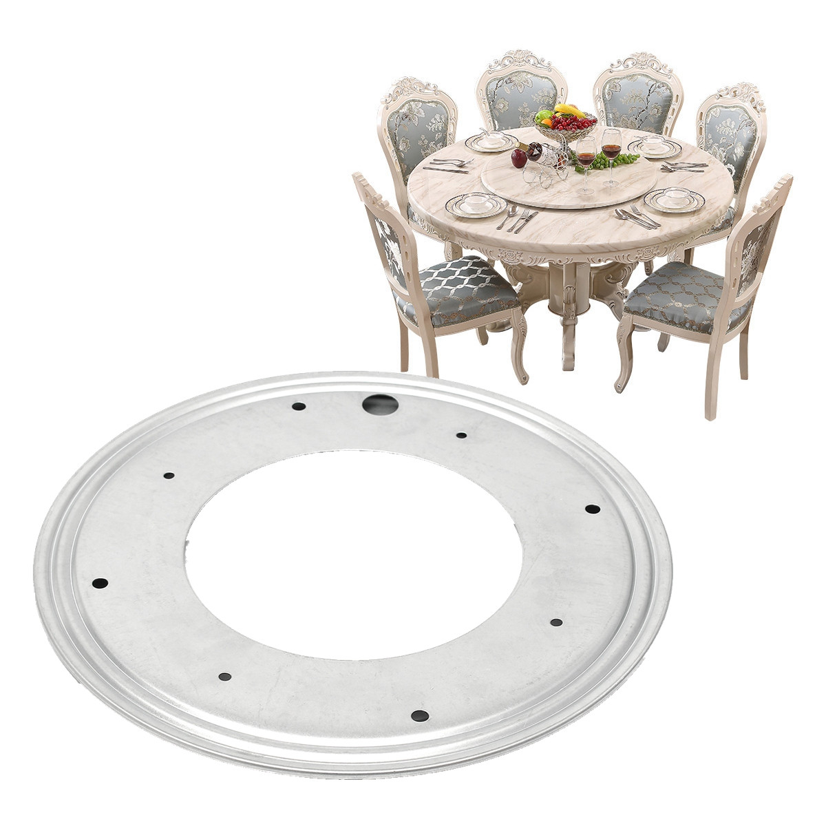 12 Inch Heavy Duty Bearing 300mm Table Furniture Turntable Ball Bearing Turntable Plate Round Galvanized Steel Smooth Rotating