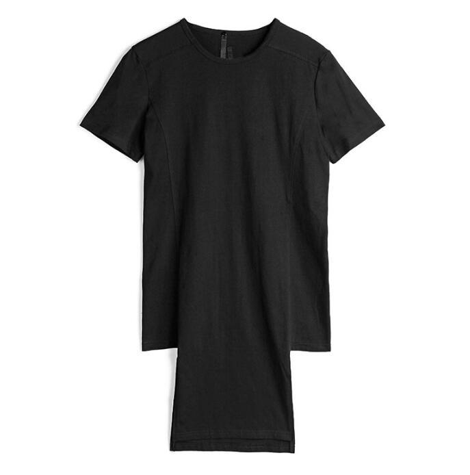 Breve da forma do projeto original do punk sexy slim camisa dos homens de manga comprida camisa adolescente coreano projeto longo T shirt dos homens personalidade - 5
