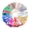 Hermoso Arte de Uñas Envuelve Llena 20 unids/set BRICOLAJE Herramientas de Transferencia Art Nail Foil Pegatina Glitter Sugerencia Decoración de La Etiqueta