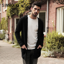 SIMWOOD Brand Sweater Men 2018 New Spring Winter Sweater Men Cardigan Fashion Long Sleeve Knitwear Slim Fit Clothing MK017005