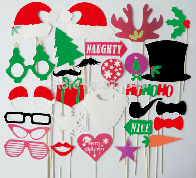 27pcs Set Diy Party Supplies Decoration Funny Christmas Photo Booth