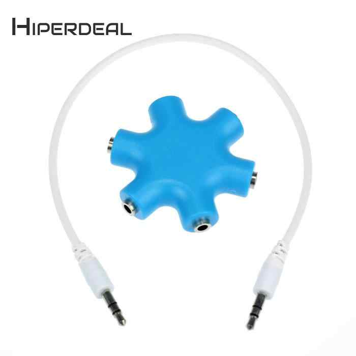 HIPERDEAL 3.5mm Headphone Earphone Audio Splitter 1 Male to 2 3 4 5 Female Cable Super Enjoyment Cable For Buddy Lover Share