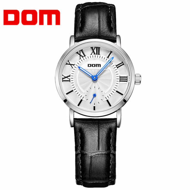 DOM Quartz Leather Lover Watch Couple Men Women Wrist Watches Business Anniversary Gift Unisex Luxury Reloj Hombre