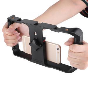 Image 3 - Ulanzi Smartphone Video Rig 3 Hot Shoe Mounts Filmmaken Case Stabilizer Frame Stand Telefoon Houder Voor Samsung Iphone Huawei